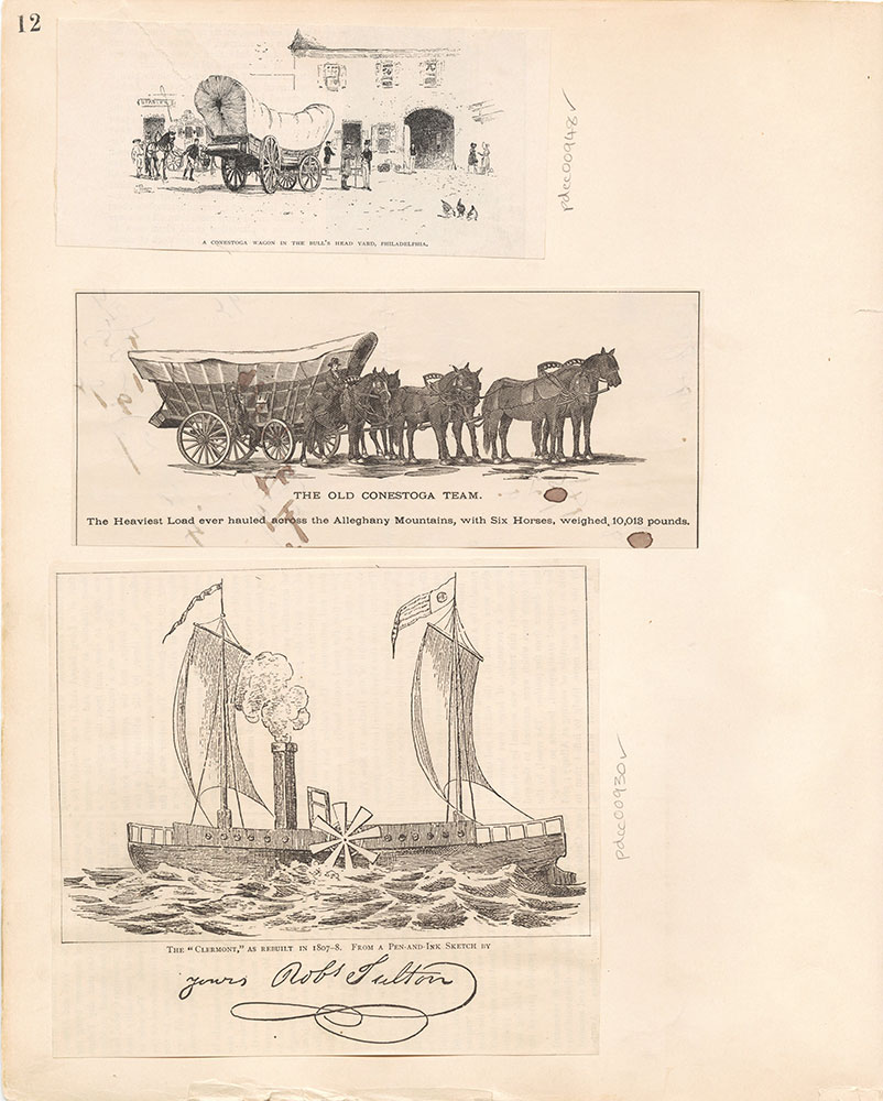 Castner Scrapbook v.10, Transportation, page 12
