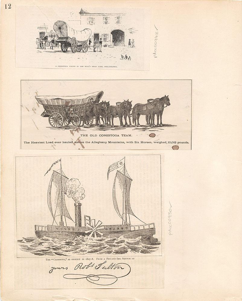 Castner Scrapbook v.10, Transportation, page 12