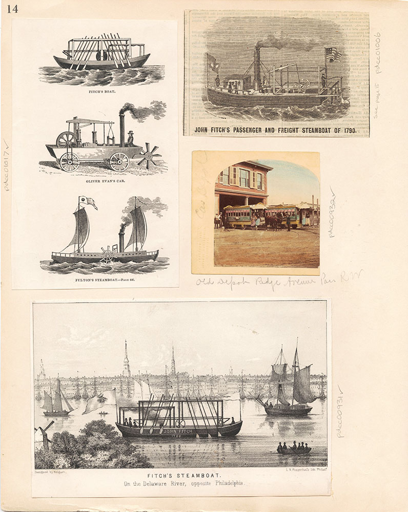 Castner Scrapbook v.10, Transportation, page 14