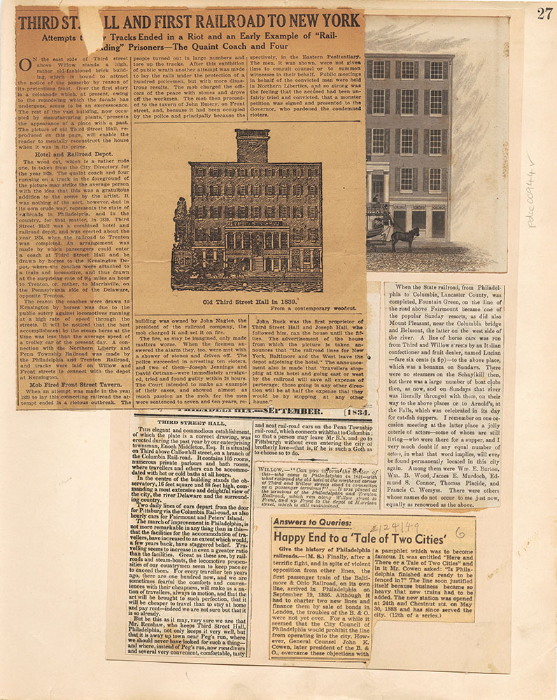 Castner Scrapbook v.10, Transportation, page 27
