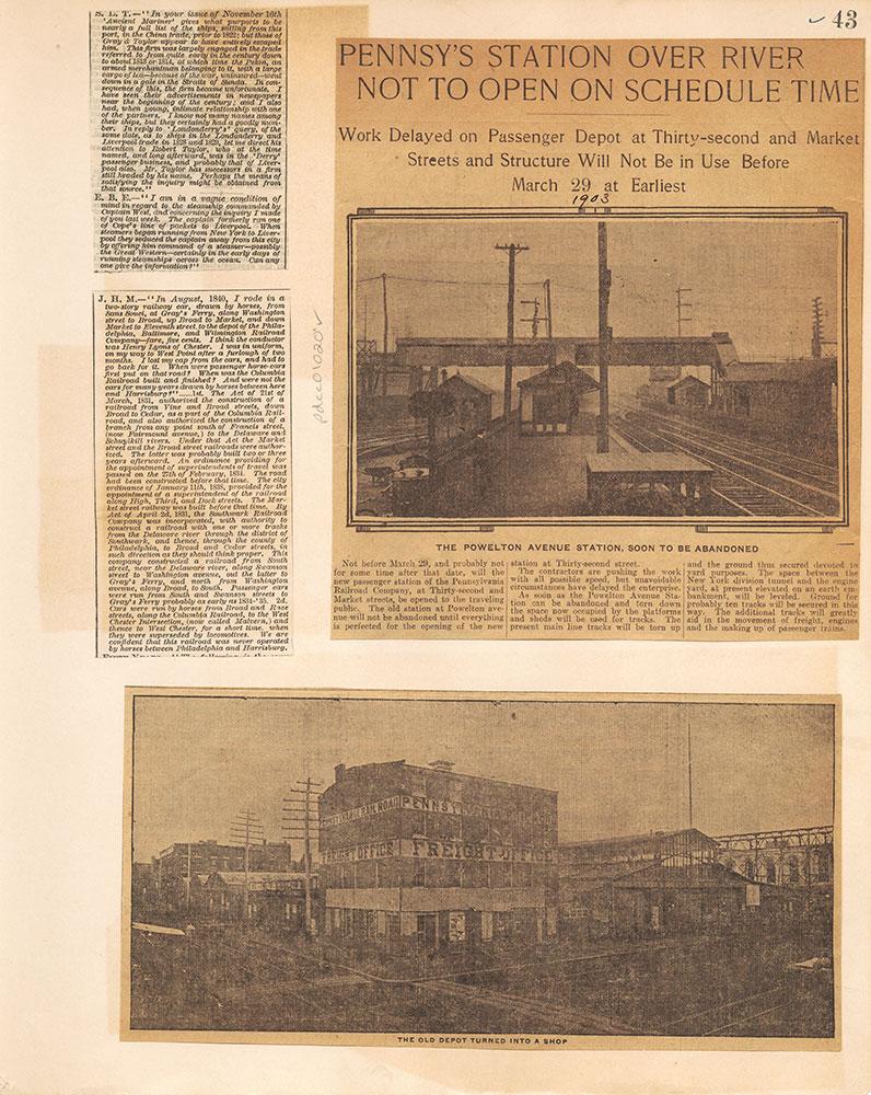 Castner Scrapbook v.10, Transportation, page 43