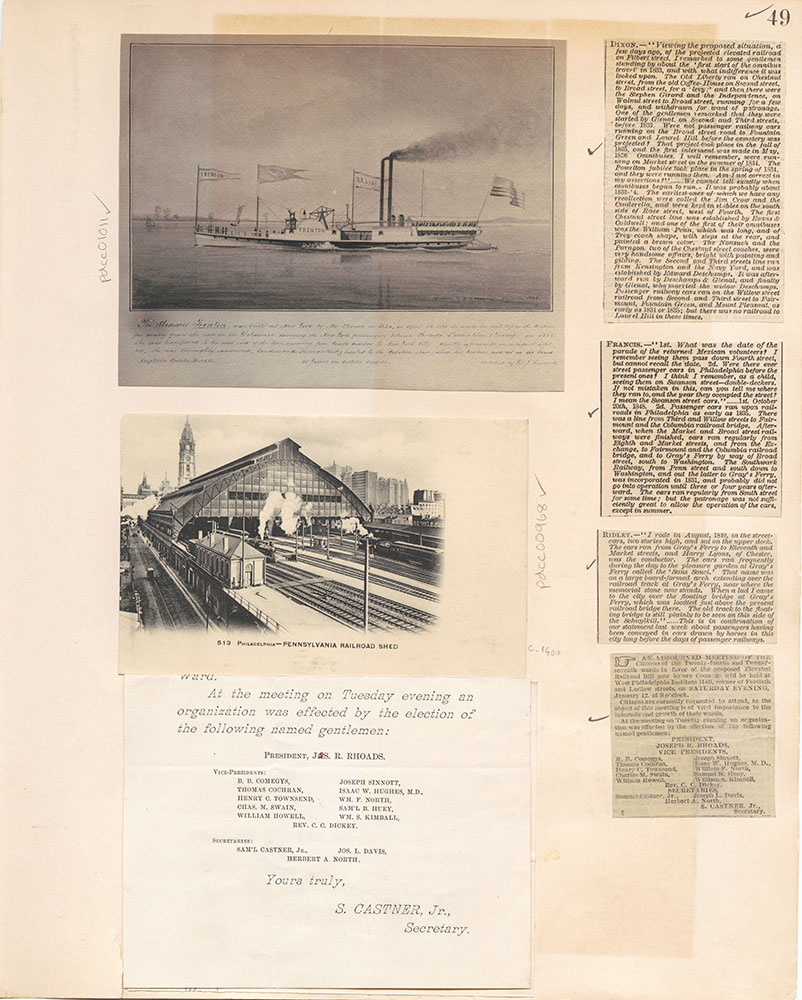 Castner Scrapbook v.10, Transportation, page 49