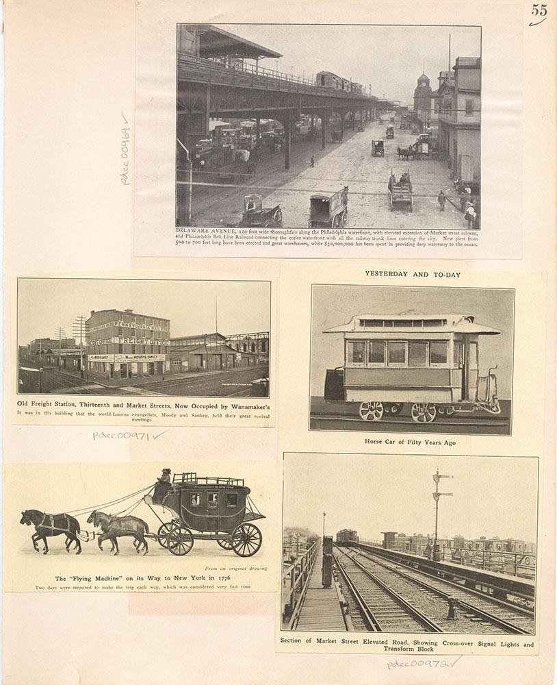 Castner Scrapbook v.10, Transportation, page 55