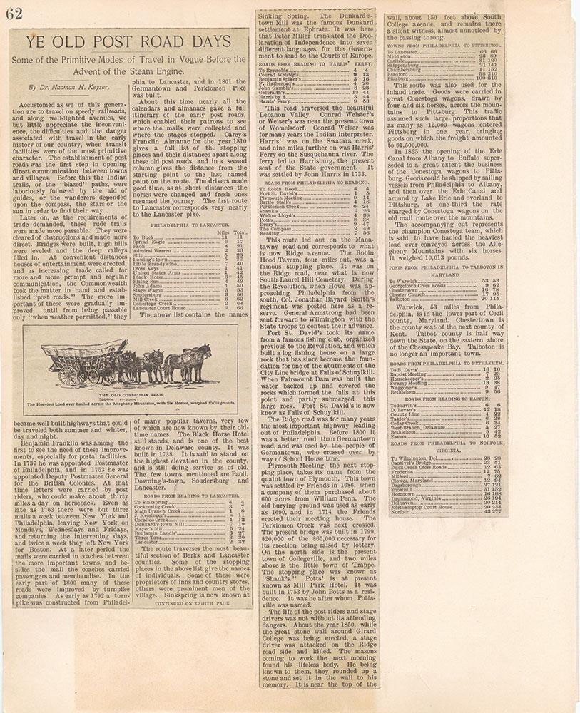 Castner Scrapbook v.10, Transportation, page 62