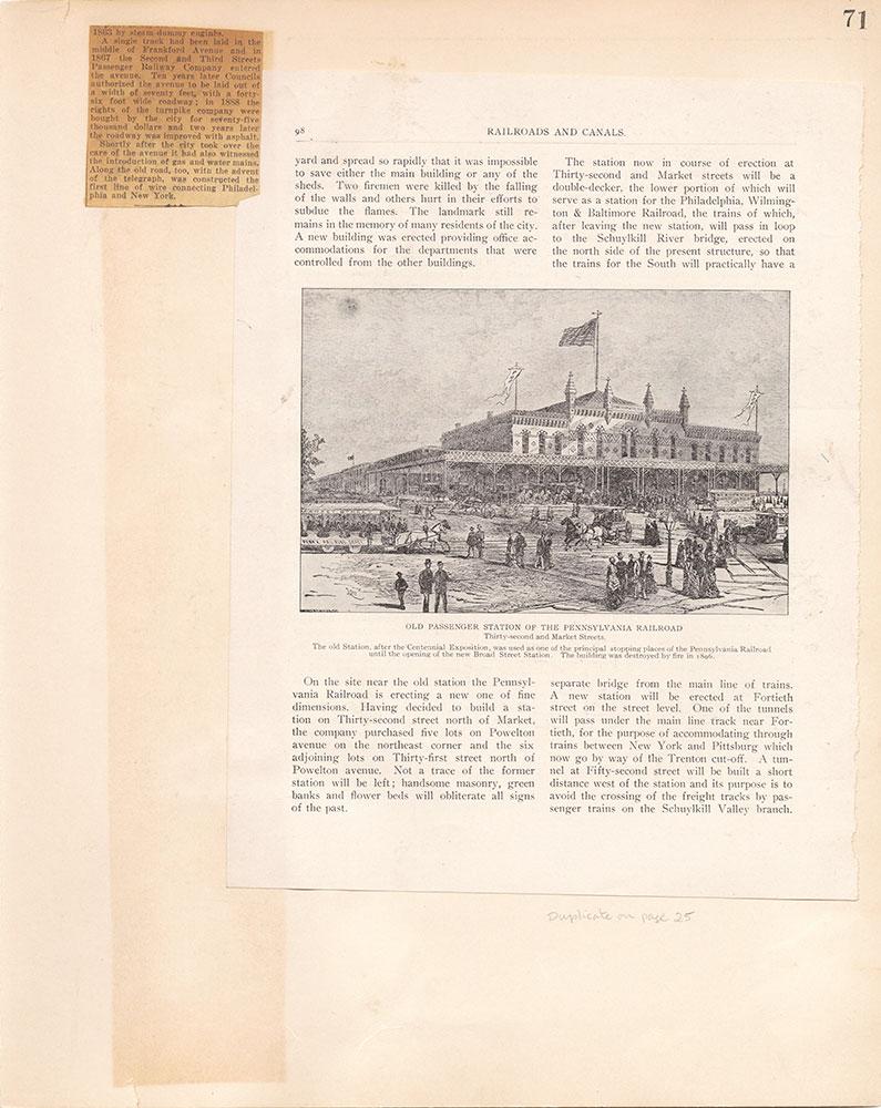 Castner Scrapbook v.10, Transportation, page 71