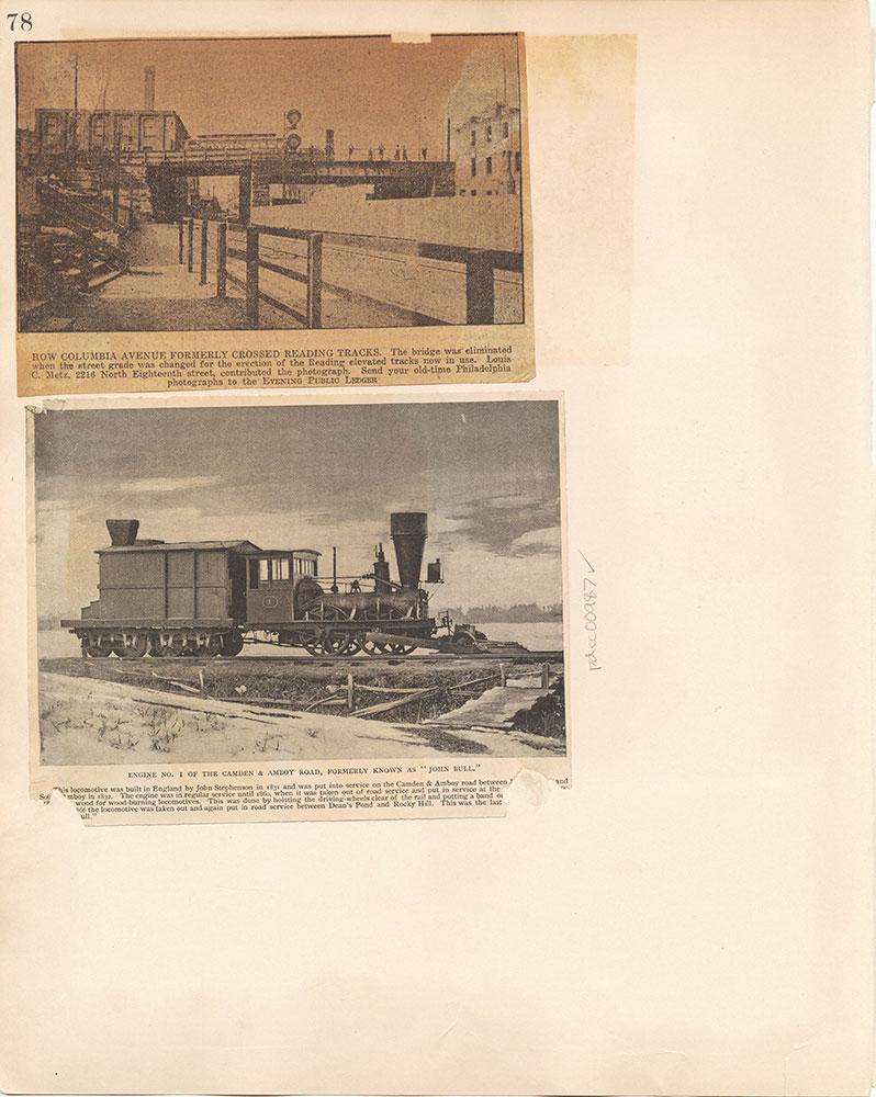 Castner Scrapbook v.10, Transportation, page 78