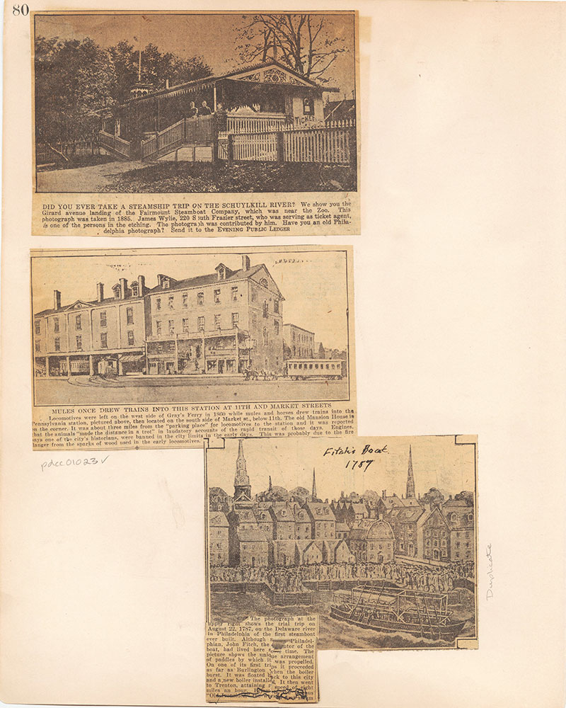 Castner Scrapbook v.10, Transportation, page 80