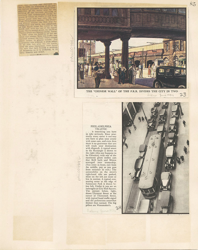 Castner Scrapbook v.10, Transportation, page 85