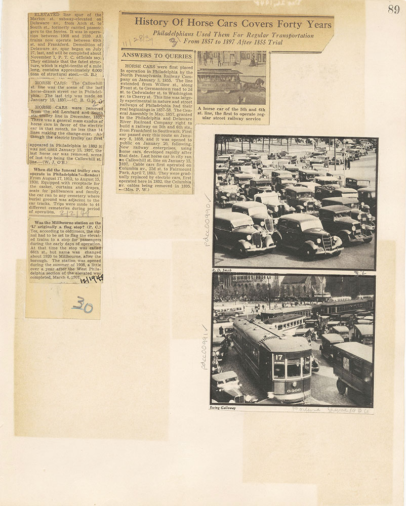 Castner Scrapbook v.10, Transportation, page 89