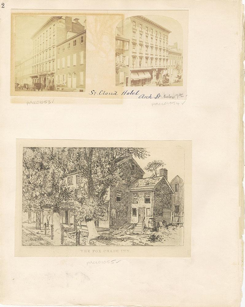 Castner Scrapbook v. 11, Hotels, Inns, page 2