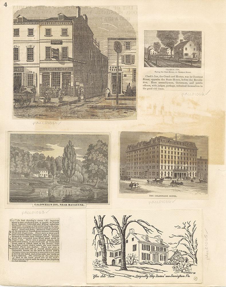 Castner Scrapbook v. 11, Hotels, Inns, page 4