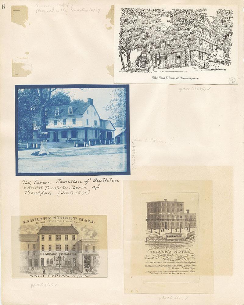 Castner Scrapbook v. 11, Hotels, Inns, page 6