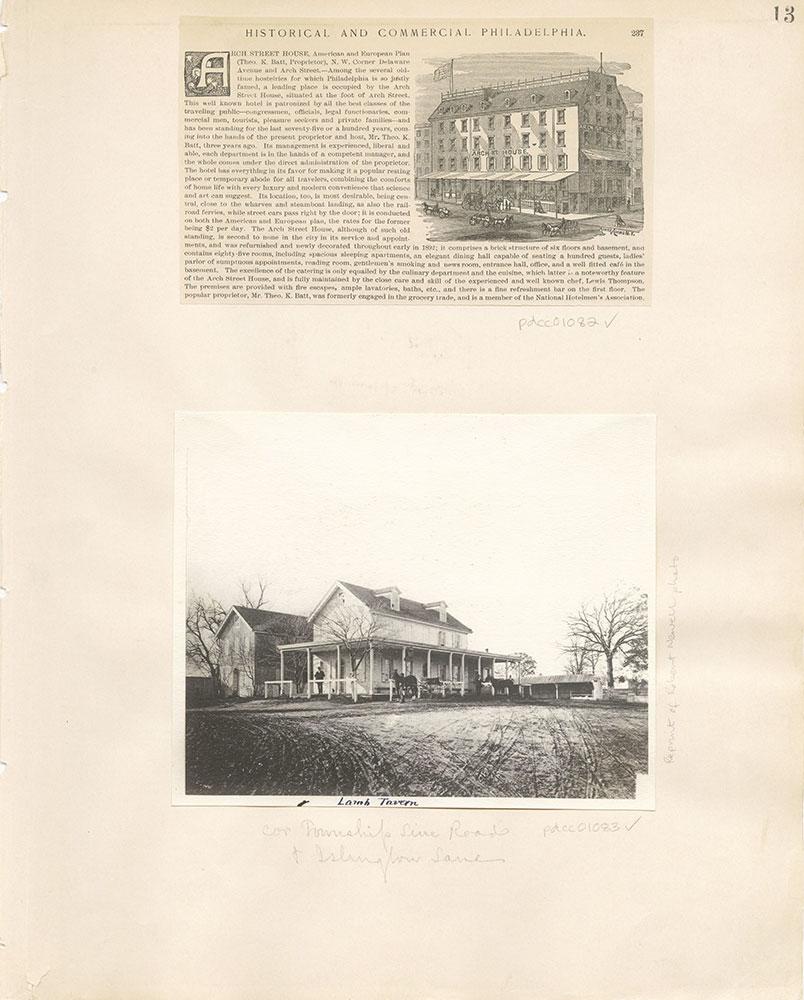 Castner Scrapbook v. 11, Hotels, Inns, page 13