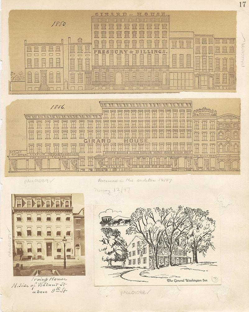 Castner Scrapbook v. 11, Hotels, Inns, page 17