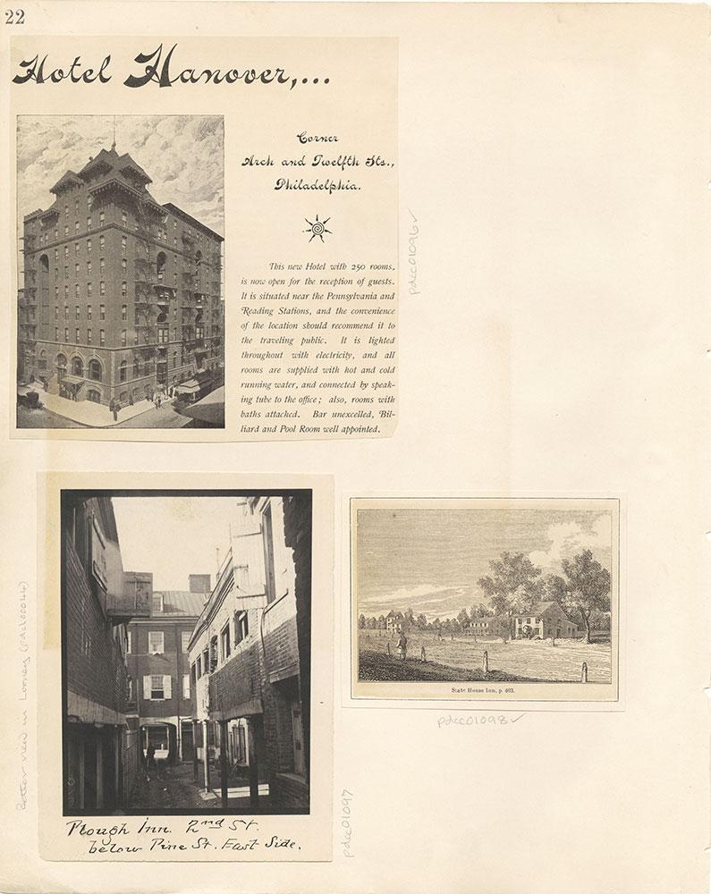 Castner Scrapbook v. 11, Hotels, Inns, page 22