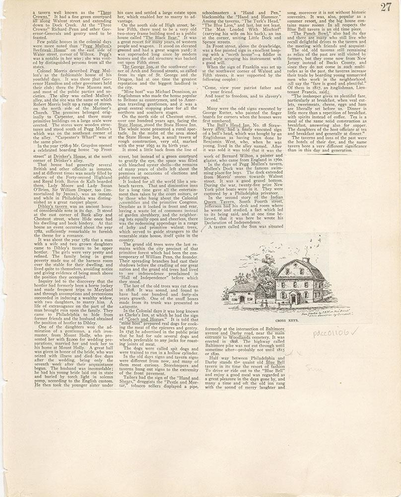 Castner Scrapbook v. 11, Hotels, Inns, page 27
