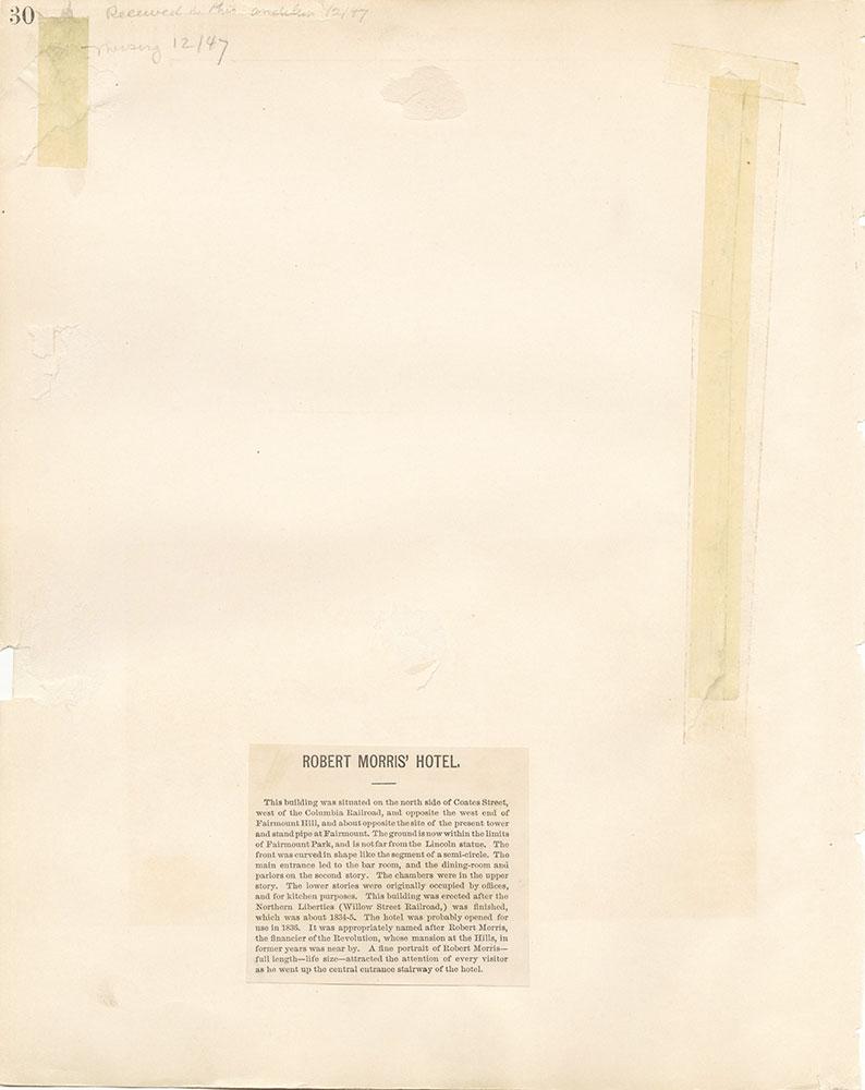 Castner Scrapbook v. 11, Hotels, Inns, page 30