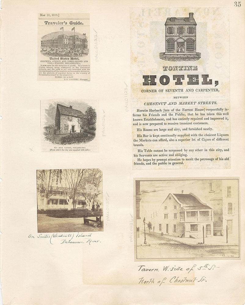 Castner Scrapbook v. 11, Hotels, Inns, page 35