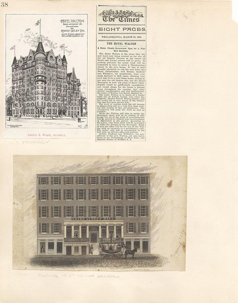 Castner Scrapbook v. 11, Hotels, Inns, page 38