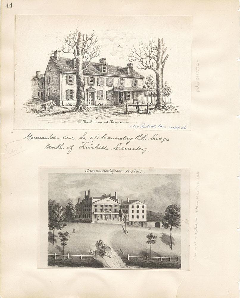 Castner Scrapbook v. 11, Hotels, Inns, page 44