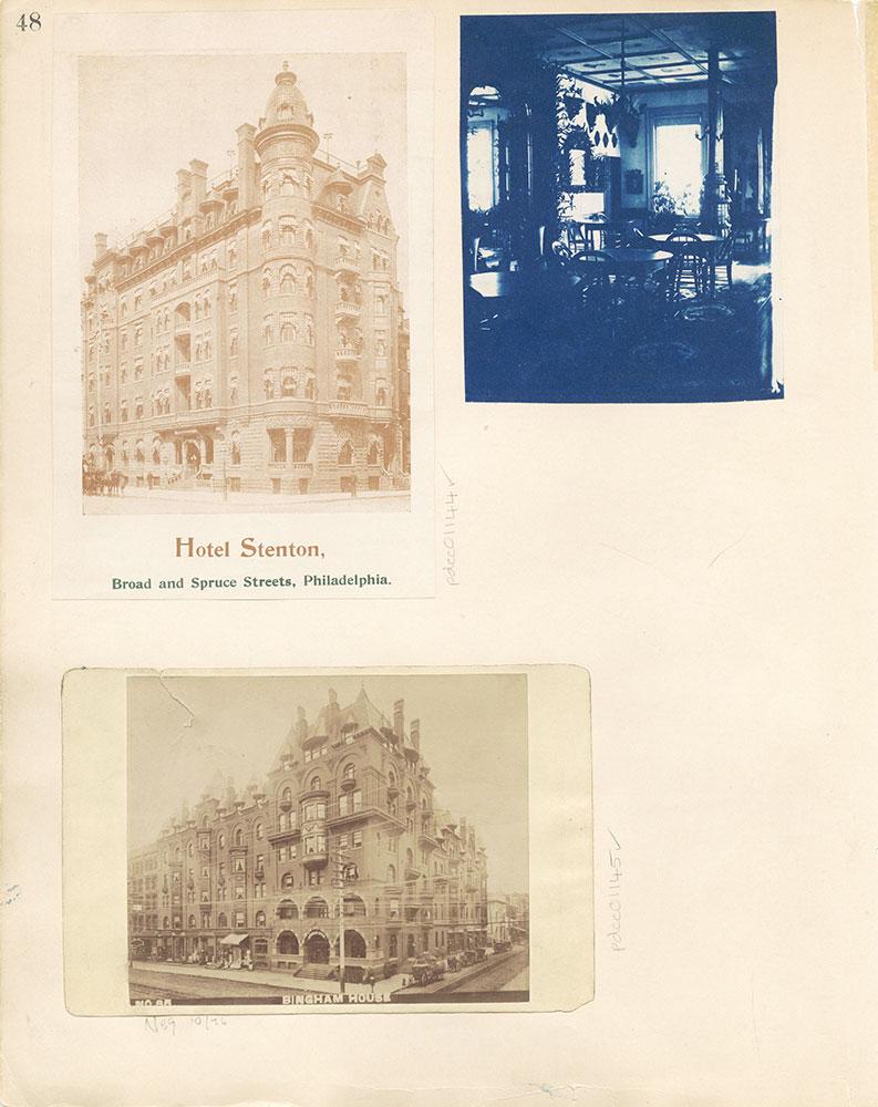 Castner Scrapbook v. 11, Hotels, Inns, page 48