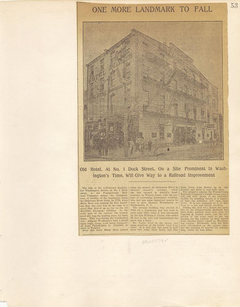 Castner Scrapbook v. 11, Hotels, Inns, page 53