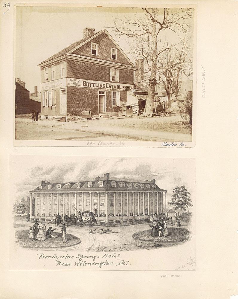 Castner Scrapbook v. 11, Hotels, Inns, page 54