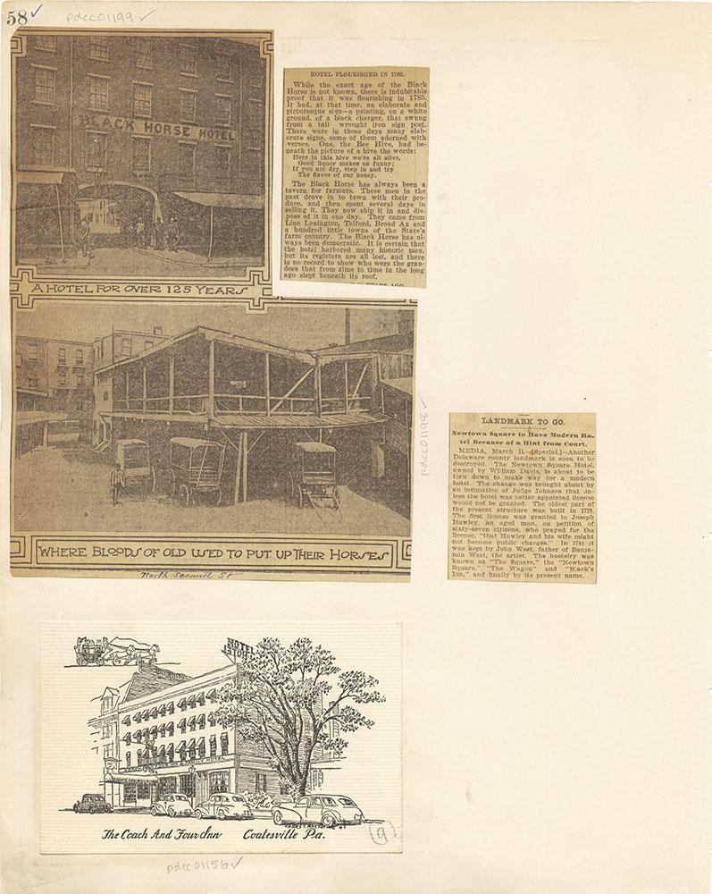 Castner Scrapbook v. 11, Hotels, Inns, page 58