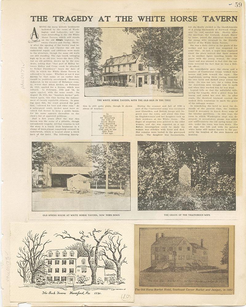 Castner Scrapbook v. 11, Hotels, Inns, page 59