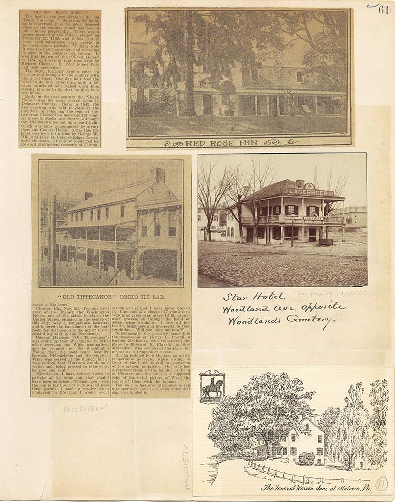 Castner Scrapbook v. 11, Hotels, Inns, page 61