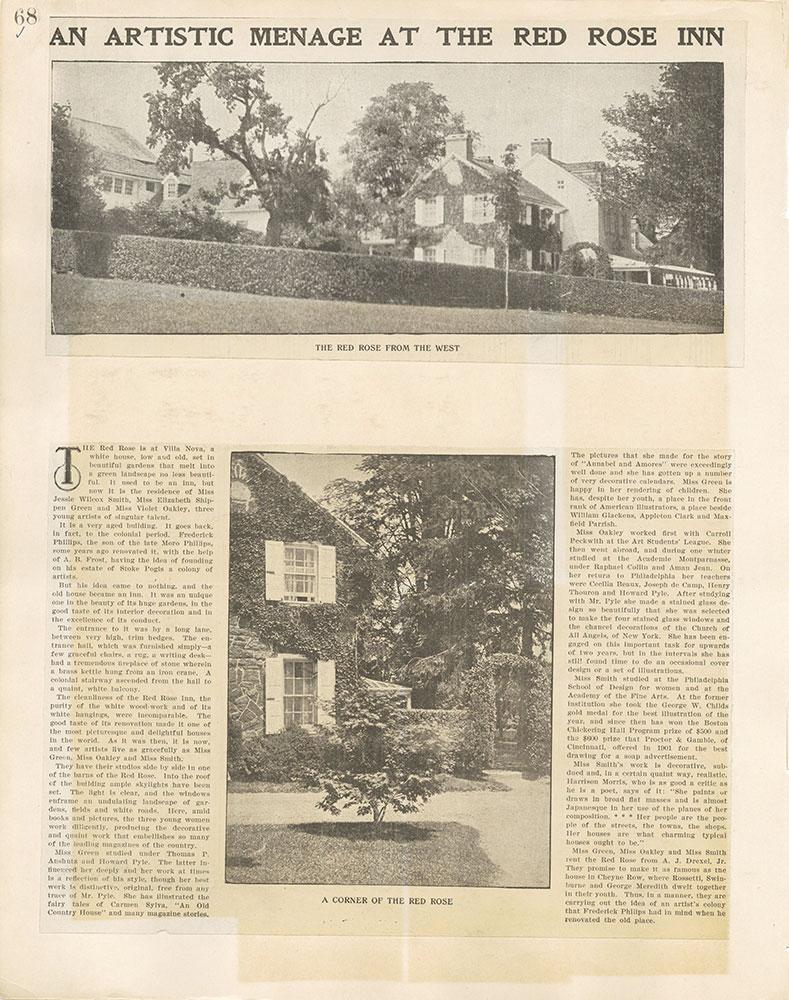 Castner Scrapbook v. 11, Hotels, Inns, page 68