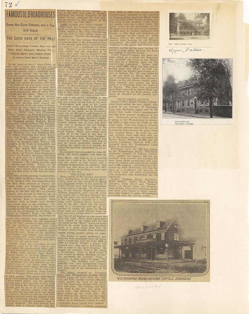 Castner Scrapbook v. 11, Hotels, Inns, page 72