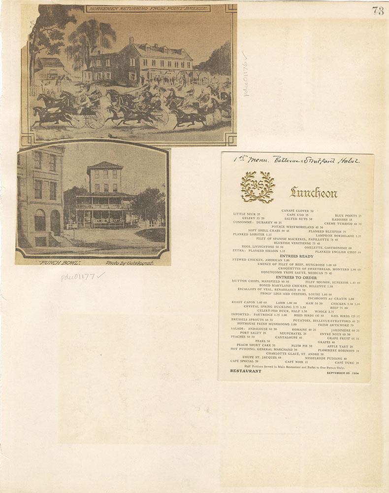 Castner Scrapbook v. 11, Hotels, Inns, page 73