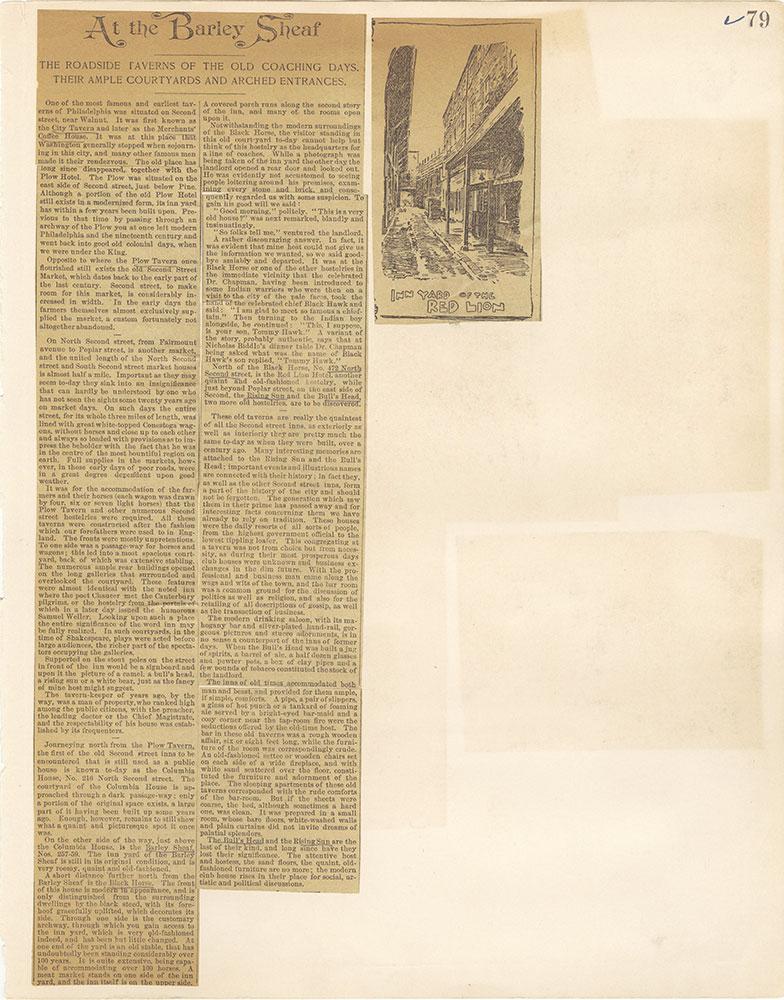 Castner Scrapbook v. 11, Hotels, Inns, page 79