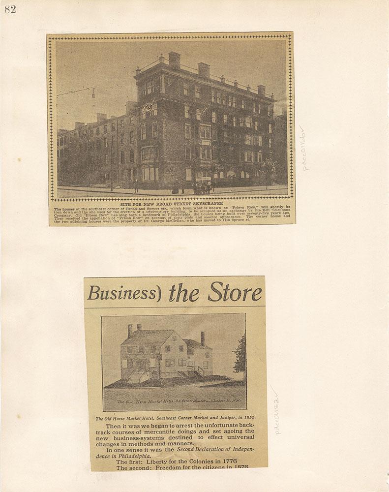 Castner Scrapbook v. 11, Hotels, Inns, page 82