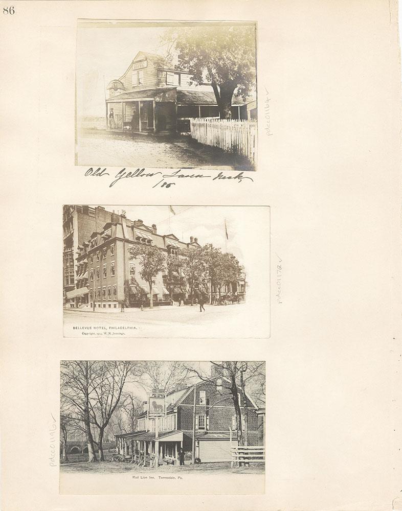 Castner Scrapbook v. 11, Hotels, Inns, page 86