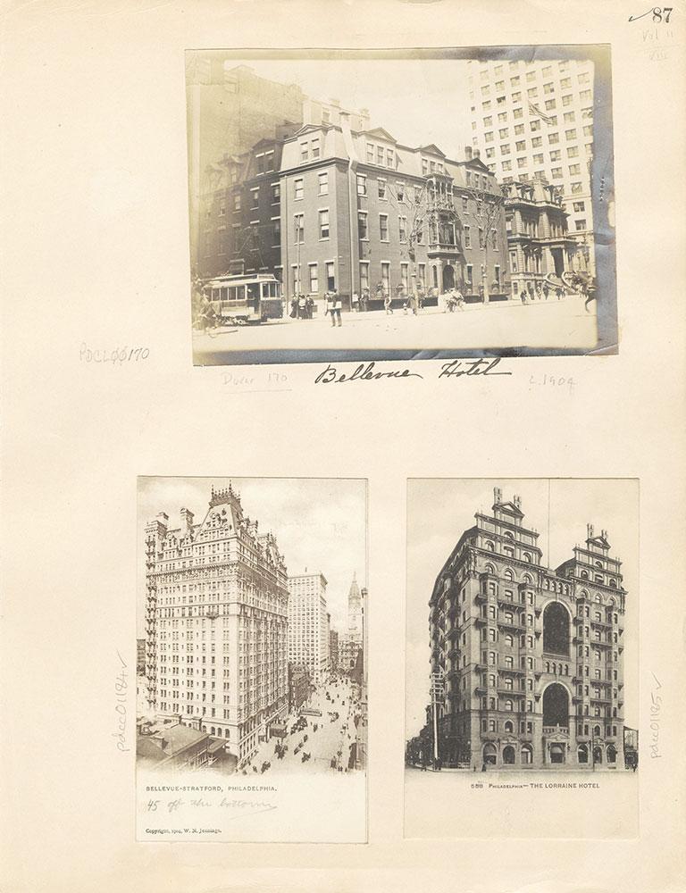 Castner Scrapbook v. 11, Hotels, Inns, page 87