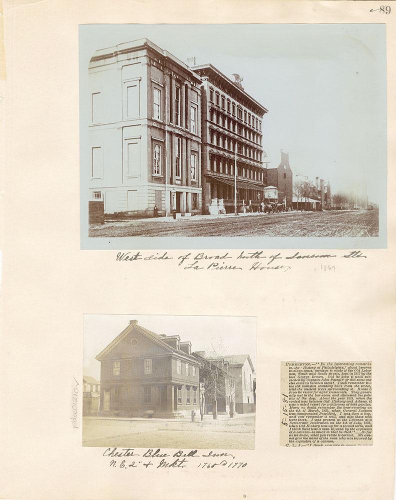Castner Scrapbook v. 11, Hotels, Inns, page 89