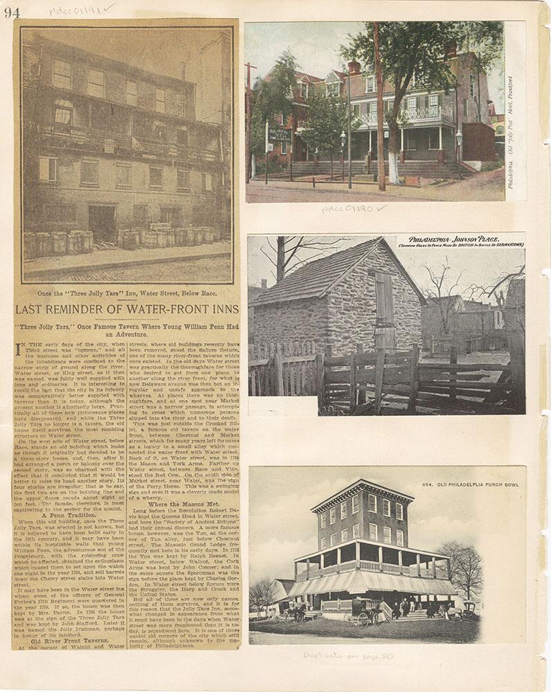 Castner Scrapbook v. 11, Hotels, Inns, page 94
