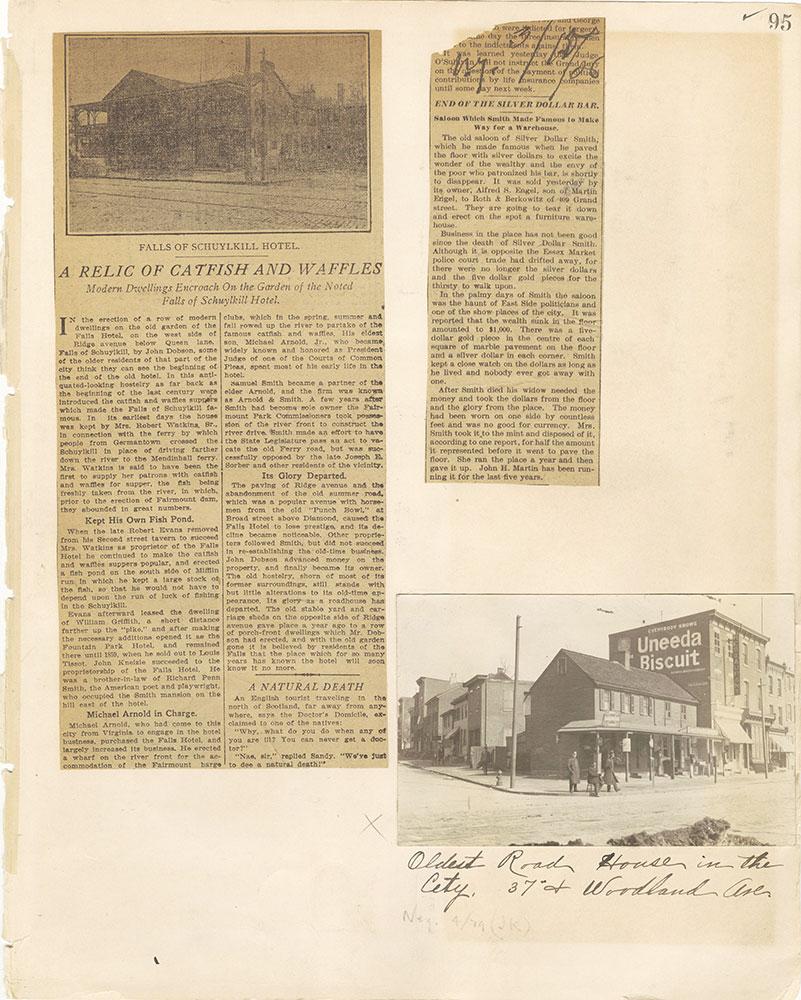 Castner Scrapbook v. 11, Hotels, Inns, page 95
