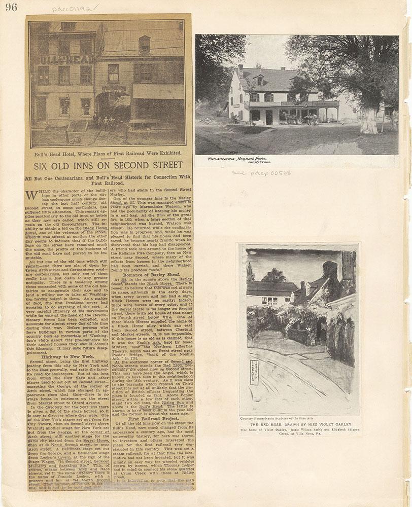 Castner Scrapbook v. 11, Hotels, Inns, page 96