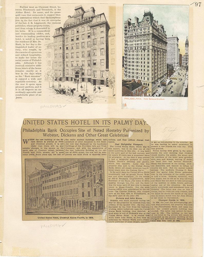 Castner Scrapbook v. 11, Hotels, Inns, page 97