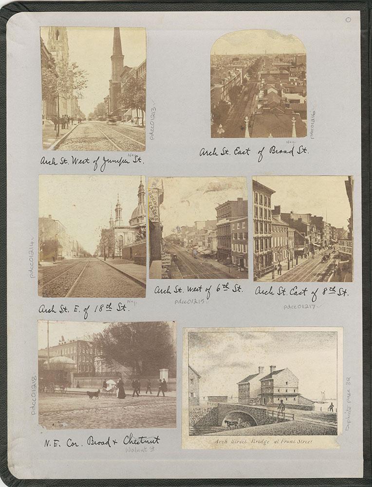 Castner Scrapbook v.12, Streets 1, inside front cover
