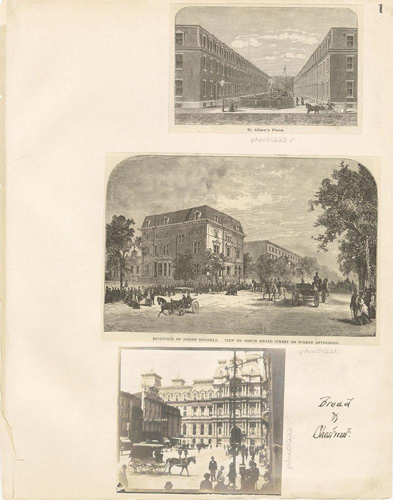 Castner Scrapbook v.12, Streets 1, page 1