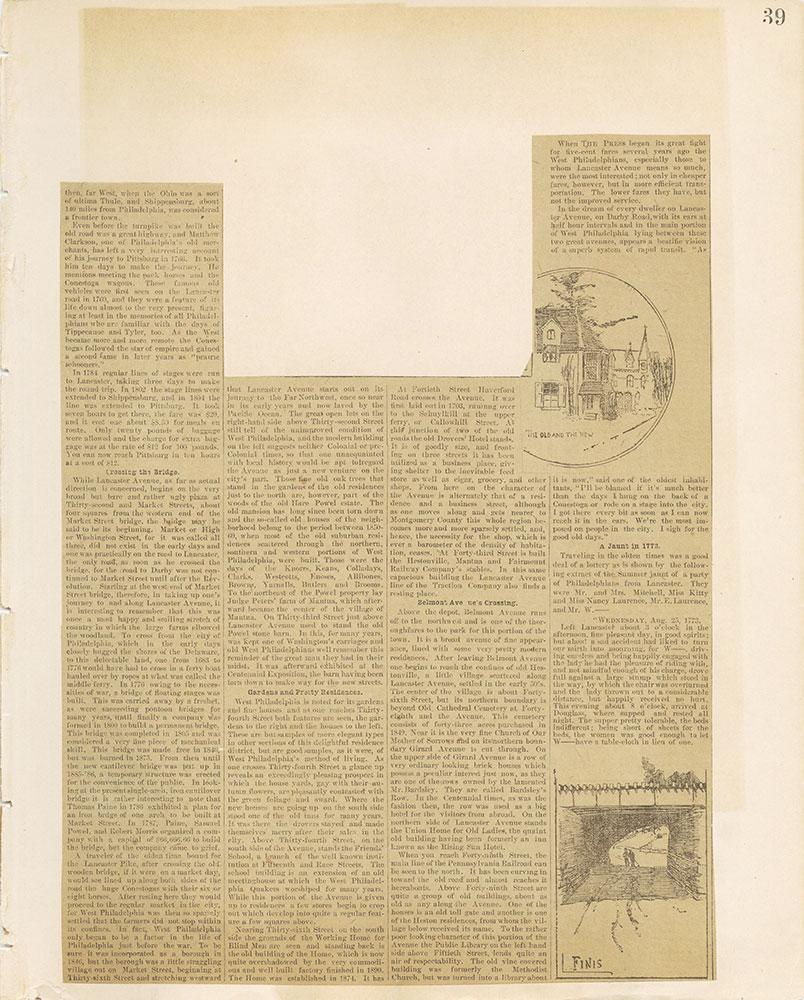 Castner Scrapbook v.12, Streets 1, page 39