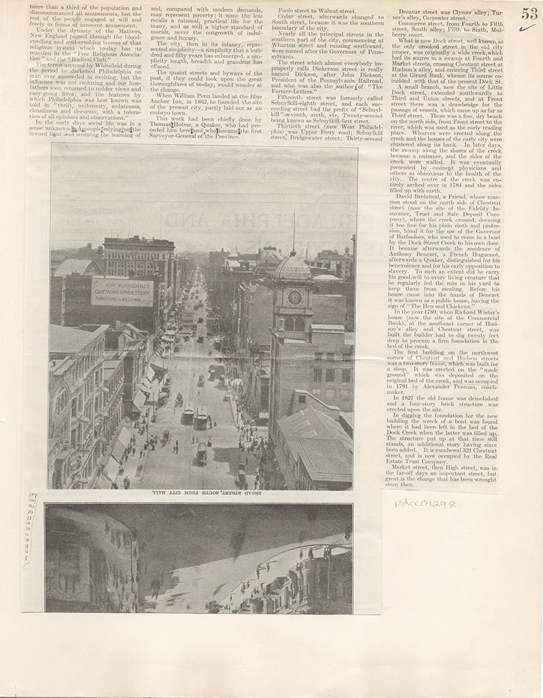 Castner Scrapbook v.12, Streets 1, page 53