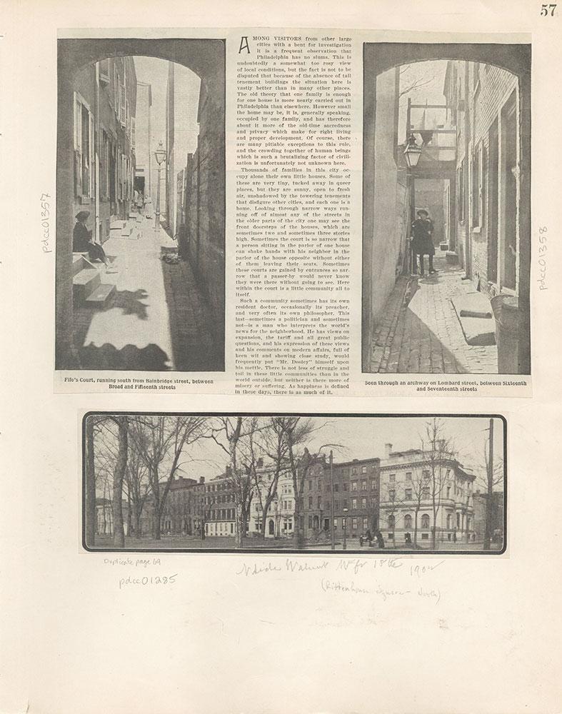 Castner Scrapbook v.12, Streets 1, page 57