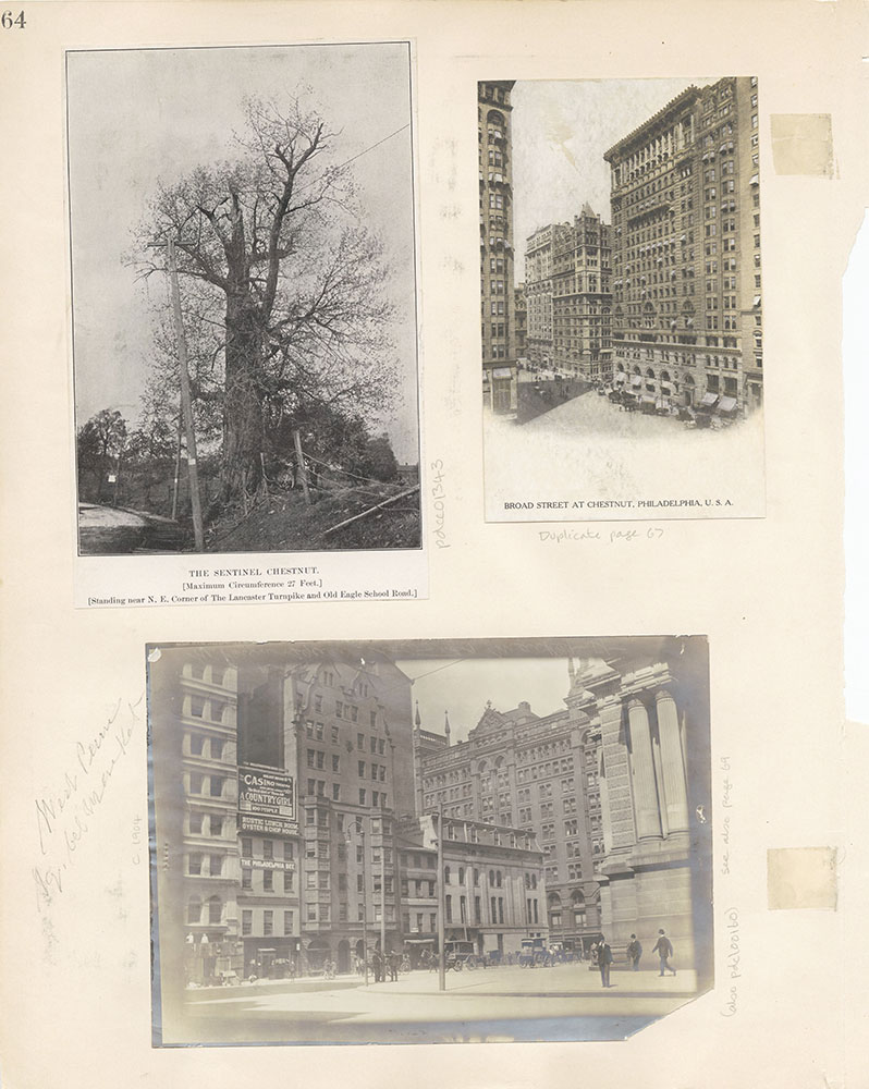 Castner Scrapbook v.12, Streets 1, page 64