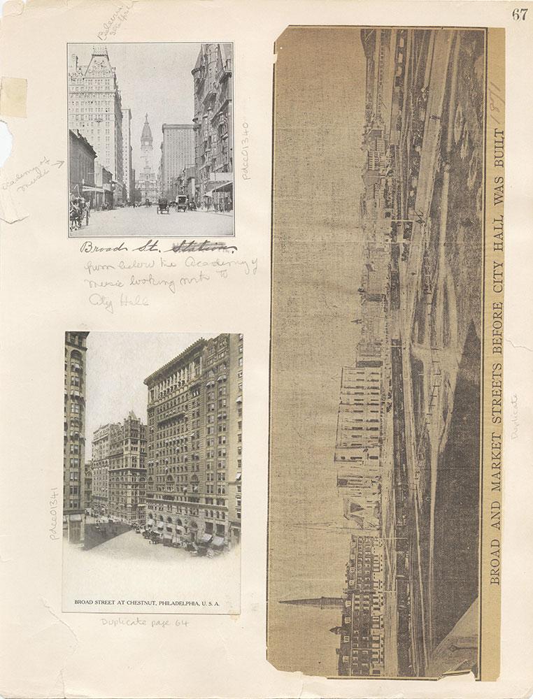 Castner Scrapbook v.12, Streets 1, page 67