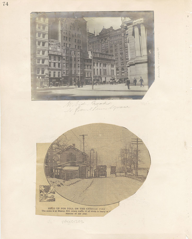 Castner Scrapbook v.12, Streets 1, page 74